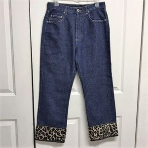 Karen Kane Cropped Blue Jeans Size 8